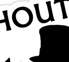 Shouty Man Sticker