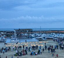 Candles On The Cob At Lyme Regis, Dorset, Uk by lynn carter