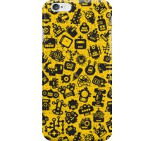 Yellow. Robots. iPhone Case/Skin