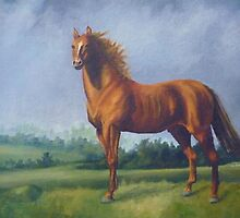 Man O'War Racehorse by Vivian Eagleson