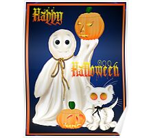 Ghost and Ghosty Kitty Poster
