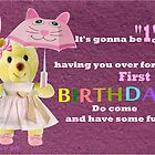 First Birthday Invitation  by Ann12art
