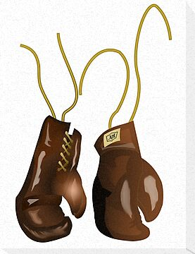 Vintage boxing gloves of a boxer by nadil