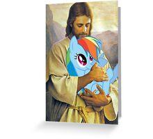 Jesus Loves Rainbow Dash Greeting Card