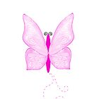 Pink Butterfly by Kelly Walker