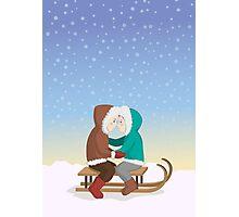 Eskimo kiss Photographic Print