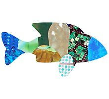 COLLAGE ART FISH by artbya