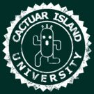 Cactuar Island University (vintage white) by karlangas