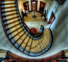 Elizabeth Bay House - Grand Staircase by Ian English