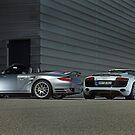 Porsche 911 Cabrio 3,8 Turbo + Audi R8 V10 Spyder  by Stefan Bau