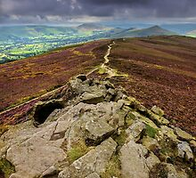 Dark Skies Over Mam Tor Ridge by Mat Robinson
