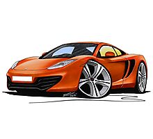 McLaren MP4-12c Volcano Orange Photographic Print