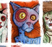 9 zombie cats Sticker