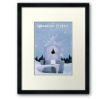 Majora's Mask - Snowhead Poster Framed Print