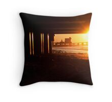 Beach Sunrise Throw Pillow