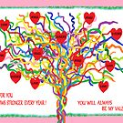 Rainbow Valentine Heart Tree   by Jana Gilmore