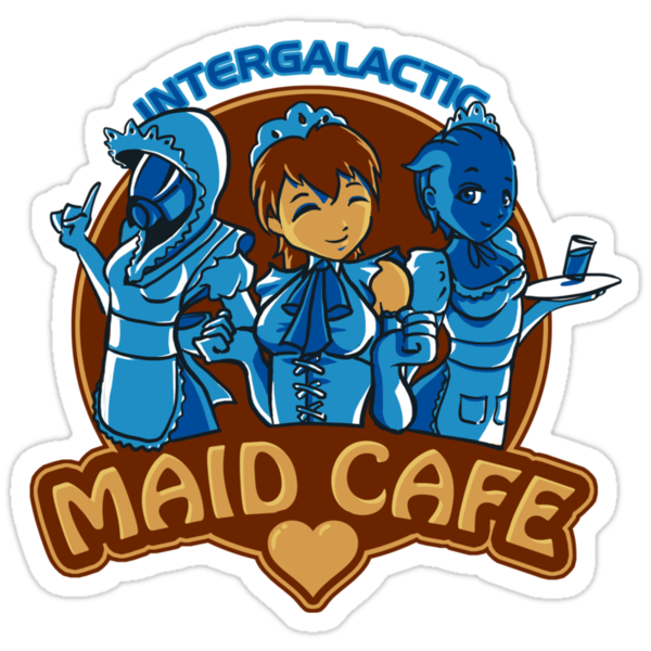 Intergalatic Maid Cafe by barefists