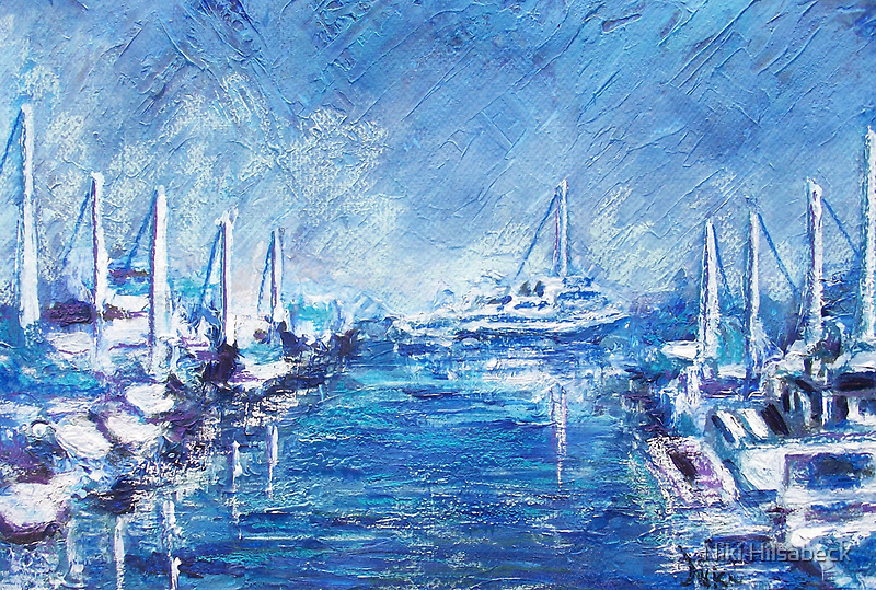 Harbor Alley (Mixed Media) by Niki Hilsabeck