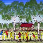 """Day at the Cricket""    SOLD Original Acrylic Painting EJCairns  by EJCairns"