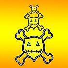 Percentum Skull & Xbones (sunset) by PercentumDesign
