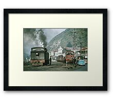 Steam engines Greymouth NZ 196503090099  Framed Print