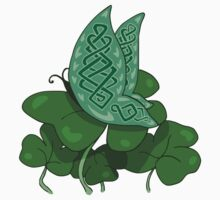 Celtic Butterfly on Clovers Kids Clothes