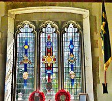The Burma Star Memorial Window. by Lilian Marshall