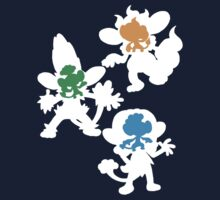 Unova - Elemental Monkeys by MrSaxon