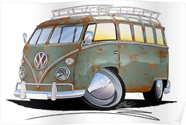 VW Splitty (23 Window) D by Richard Yeomans
