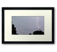 Lightning 2012 Collection 30 Framed Print
