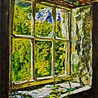 """View on the Past, Derelict Cottage Window, Galboly, Glens of Antrim."" by Laura Butler"