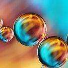 Techno-coloured Bubble Abstract by Sharon Johnstone