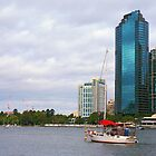 Brisbane River Boats by Danny  Waters