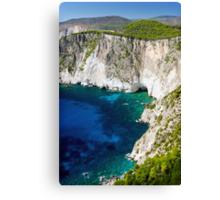 Cliffs at Keri, Zakynthos, Greece Canvas Print