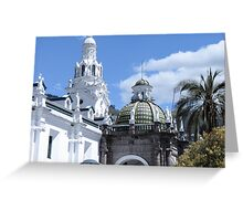 Quito architecture. Greeting Card