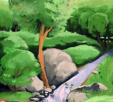 Stream and Trees by Cassandra Van Hout