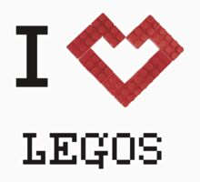 I Heart Legos (RED) by HighDesign