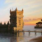 Belem Tower in Lisbon by kirilart