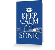 Keep Calm and Sonic Greeting Card