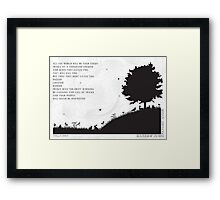 Watership Down Black and White Illustrated Quote Framed Print