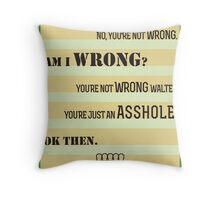 The Big Lebowski A-hole Quote Throw Pillow
