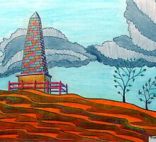 366 - THE OBELISK - DAVE EDWARDS - COLOURED PENCILS - 2012 by BLYTHART
