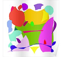 Apple House Purple Hat Red Boat Green Poster