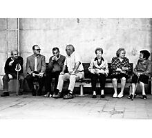 The Bored meeting :) Photographic Print