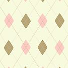 Pink Green Argyle  by HighDesign