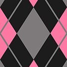 Pink and Black Argyle  by HighDesign