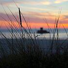 St Ouen Jersey Sunset 2 by Mark Nelson