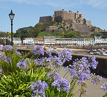Gorey Castle Jersey Channel Islands by Mark Nelson