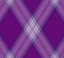 Purple and White Diamond Plaid by HighDesign