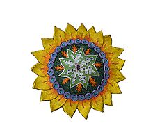 Sun Sunflower Mandala Original Print Design Photographic Print